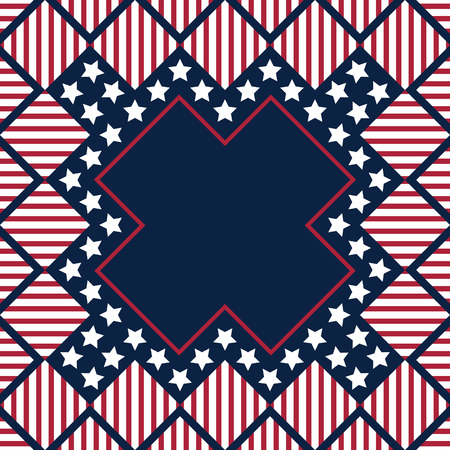 neckerchief: vector american independence day with empty area for text or you can print for scarve and neckerchief Illustration