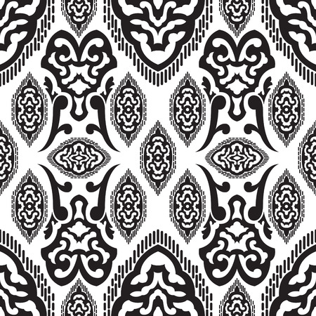 neckerchief: black and white traditional asian style seamless pattern