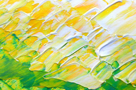 knobby: yellow white and green blend painting background