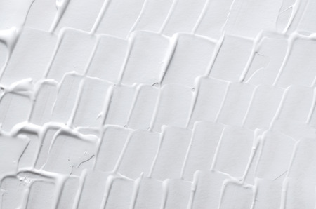 knobby: white acrylic repeat shape painting texture background Stock Photo