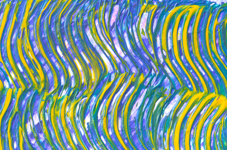 purple yellow and green blend ripple painting texture background Stock Photo