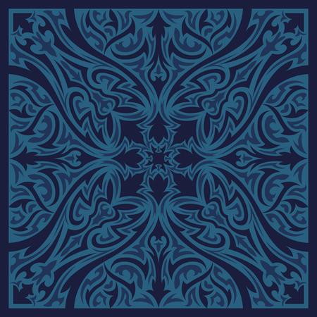 contemporary: blue monotone contemporary style pattern