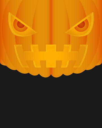 testa di zucca di Halloween su sfondo nero