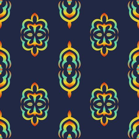 multi color: multi color gradient contemporary shape seamless pattern on blue