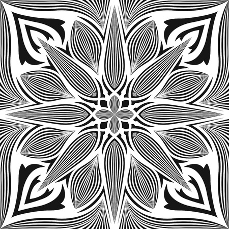 black and white contemporary style pattern