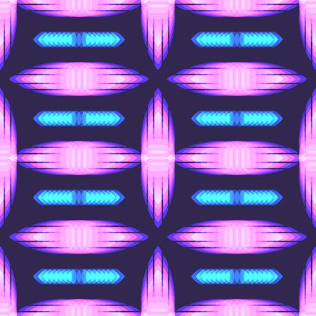 modern neon light style seamless pattern Illustration