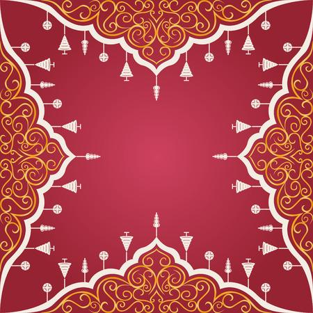 elegant christmas ornament frame background