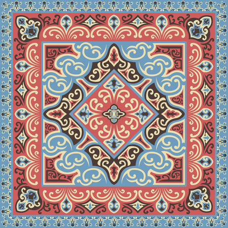 classical vintage four colors scarf pattern