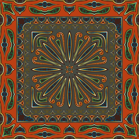 classical multicolor vintage style seamless pattern Illustration