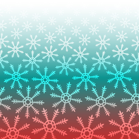 red and green snowflake christmas background Illustration
