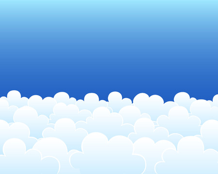 little clouds on the blue sky background