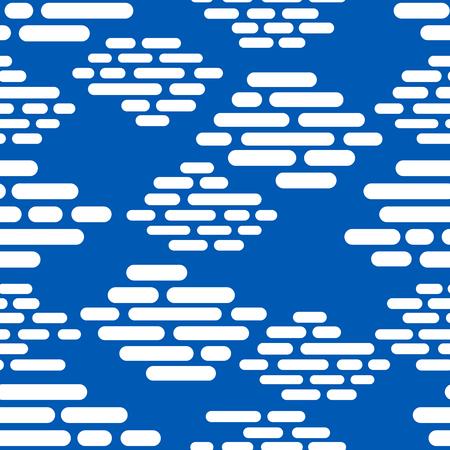 modern white brick seamless pattern on blue