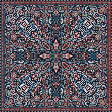 three colors modern native pattern on black