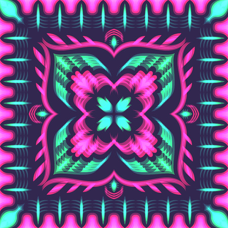 abstract neon colors overlay pattern on purple