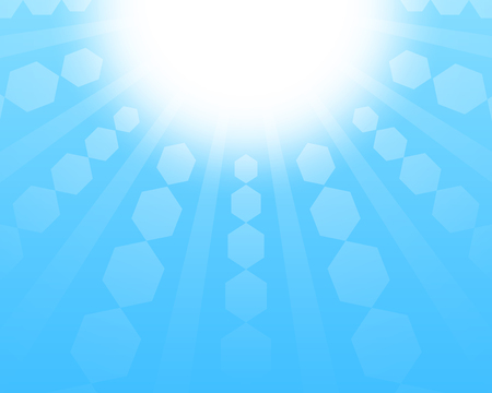 reflect: sun and reflect in the blue sky background