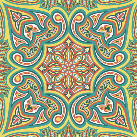 abstract contemporary asian style pattern on green background
