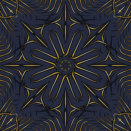 abstract black and golden modern shape pattern