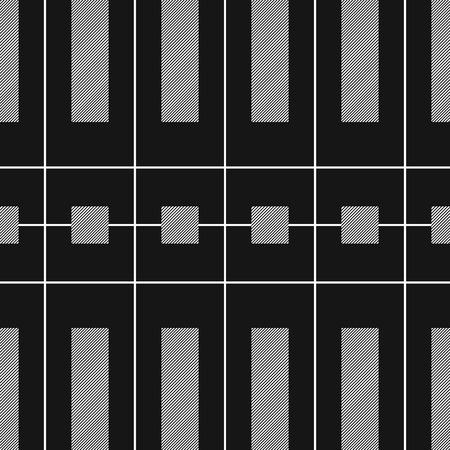 modern black and white seamless pattern Illustration
