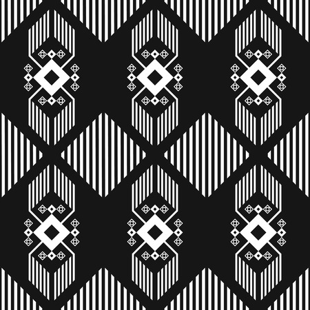 modern black and white native seamless pattern Illustration