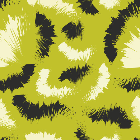 abstract painting colors style seamless pattern on green Illustration
