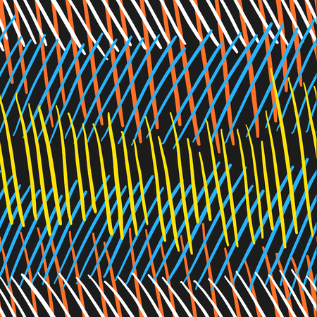 freehand drawing colors line seamless pattern