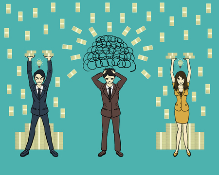 when you have an idea you will get the money Illustration