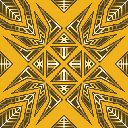 shawl: Abstract modern geometric yellow and gold pattern.