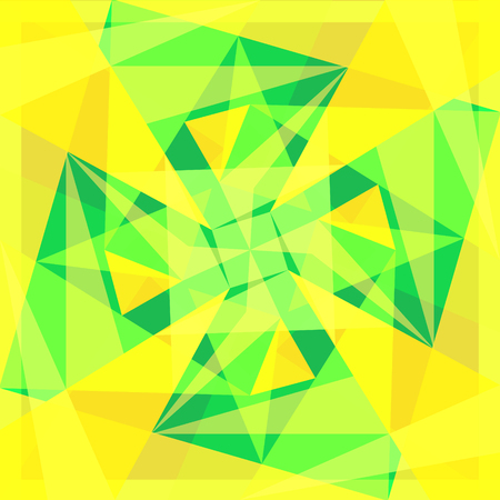 abstract yellow and green geometric overlap pattern Illustration
