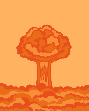 nuke: illustration of nuclear bomb explosion background
