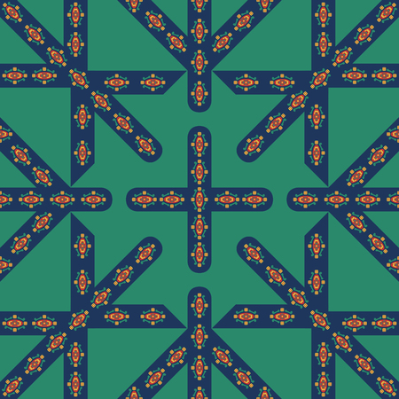 abstract modern europe style with grig lind pattern on green Illustration