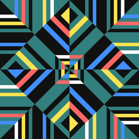 abstract alternate multicolor geometric style pattern