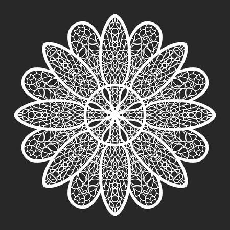 Classical white flora lace doilies template