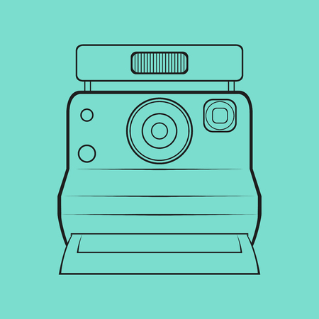 The polaroid camera out line logo
