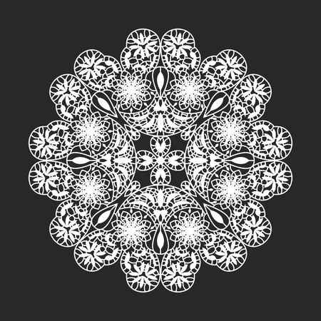 classical circle white flora lace doilies template