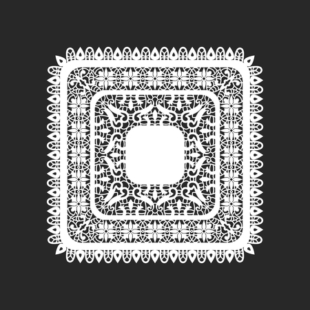 classical square white lace doilies template
