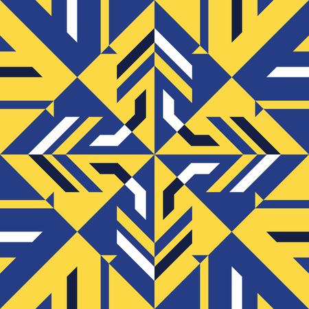추상 현대 노란색과 파란색 형상 스타일 원활한 패턴