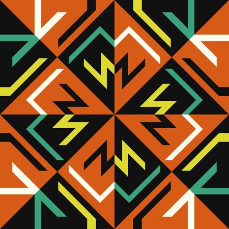 추상 현대 오렌지와 블랙 형상 스타일 원활한 패턴