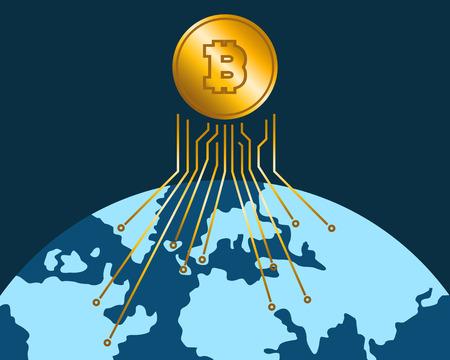 People around the world trading bitcoin