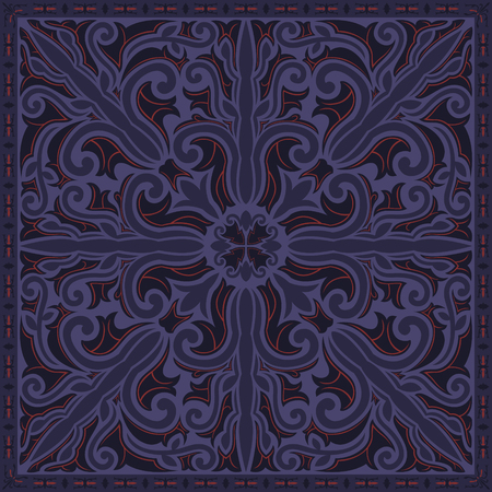 abstract modern classic violet and red pattern