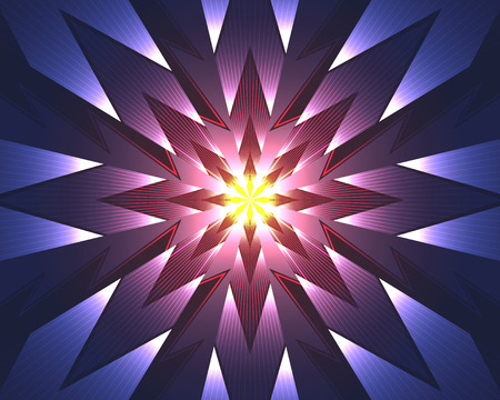 abstract pink and purple star halo light with red line background