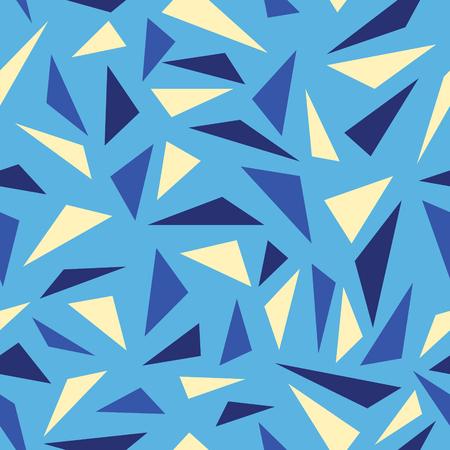 abstract multiple triangle seamless pattern on light blue Illusztráció