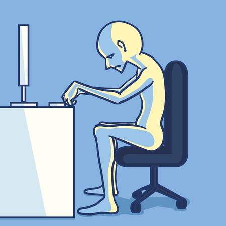 saaie zakenman in een kantoorruimte Stock Illustratie