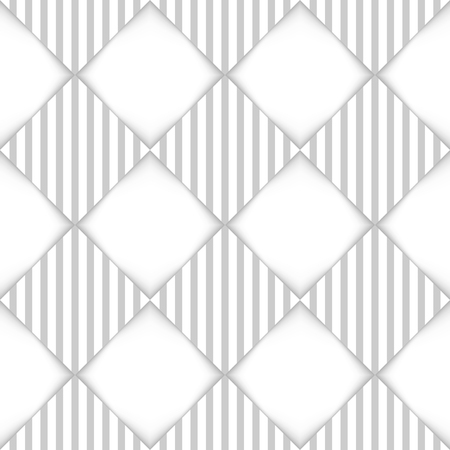 Abstract white and grey rhombus seamless pattern.