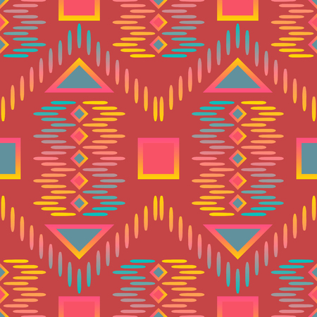 Abstract geometric native seamless pattern. Illustration
