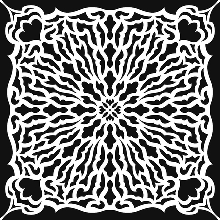 abstract contemporary black and white pattern