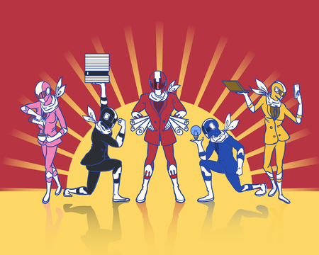 the five color office rangers