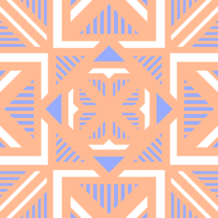 abstract modern geometric orange and blue pastel pattern