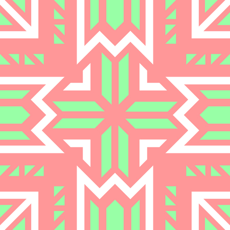 abstract modern geometric red and green pastel pattern