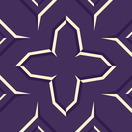abstract modern violet and cream geometric native pattern