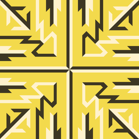 abstract modern yellow and cream geometric native pattern